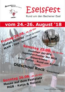 Eselsfest Freitag 24.08.- Rund um den Bechener Esel @ Am Bechener Esel | Kürten | Nordrhein-Westfalen | Deutschland