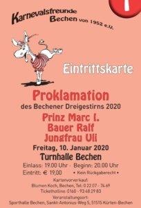 Prinzenproklamation 2020 @ Sporthalle Bechen
